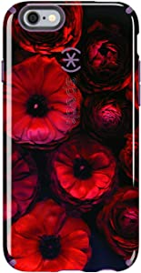 Speck Candyshell Inked Case Compatible with iPhone 6 Plus 6S Plus, Moody Bloom Pattern/Acai Purple