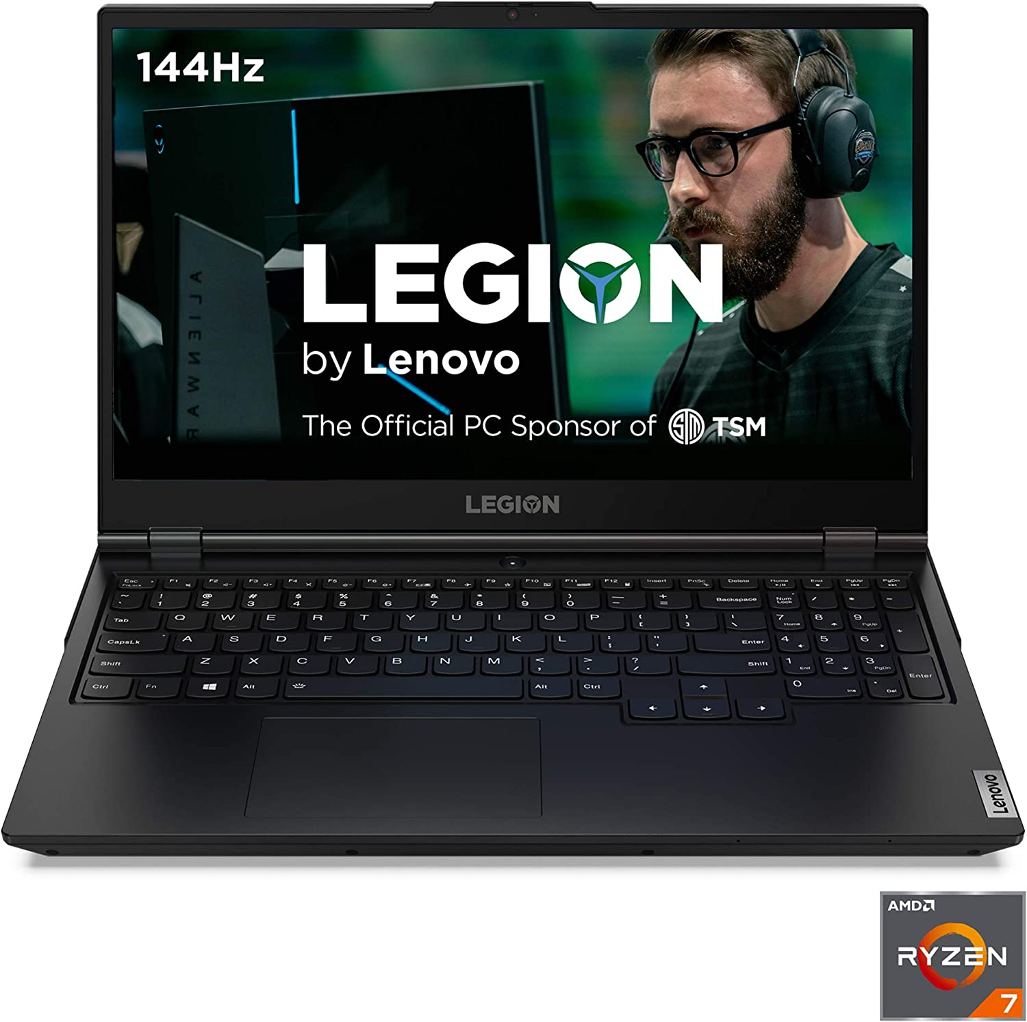 "Lenovo Legion 5 Gaming Laptop, 15"" FHD (1920x1080) IPS Screen, AMD Ryzen 7 4800H Processor, 16GB DDR4, 512GB SSD, NVIDIA GTX 1660Ti, Windows 10, 82B1000AUS, Phantom Black"