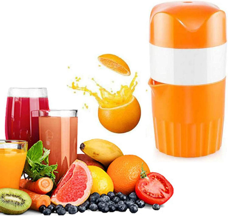 Hand Juicer Citrus Orange Press Squeezer Manual Lid Rotation With Strainer And Built Measuring Cup Container Fruit Juicer Lemon Lime Grape Squeezer (Citrus Color)