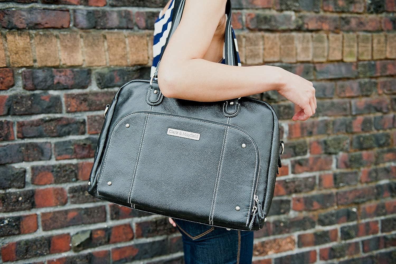 "Amazon.com: Clark & Mayfield Morrison Leather Laptop Handbag 18.4"" (Black):  Computers & Accessories"