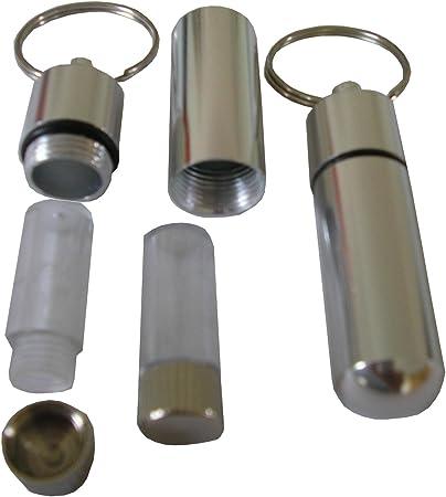 1 Schlüsselanhänger Metall Versteck Pillendose Geheimversteck Safe Tarnung Cache