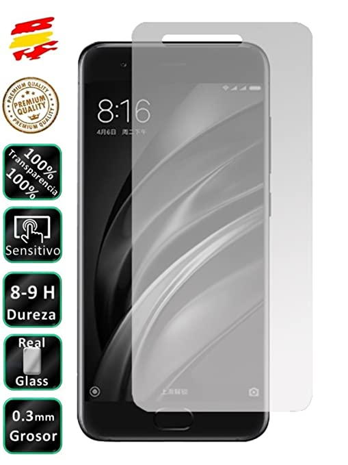 Movilrey Protector para Xiaomi MI A1 4G 5.5 Cristal Templado de ...