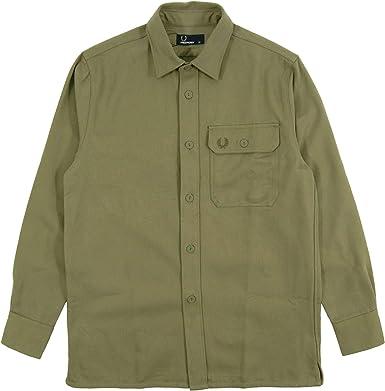 Fred Perry - Camisa casual - para hombre Verde verde oliva XL: Amazon.es: Ropa y accesorios