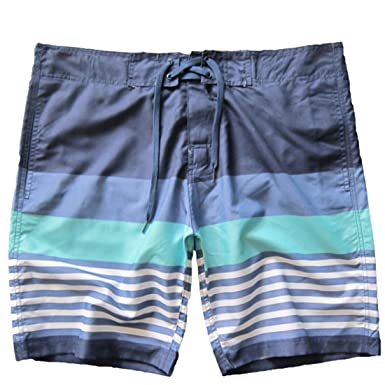 98871a58561 LerBen Men Casual Beach Shorts Stripe Summer Holiday Swimming Trunks  Surfing Boardshorts plus size with Mesh