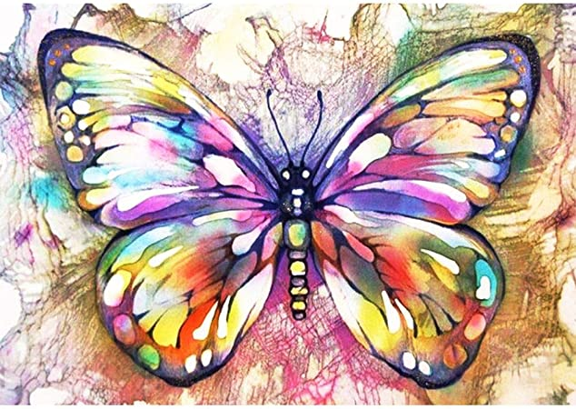 Round Drill 5D Diamond-Painting Art Craft Butterfly Bone Kits Family Decoration