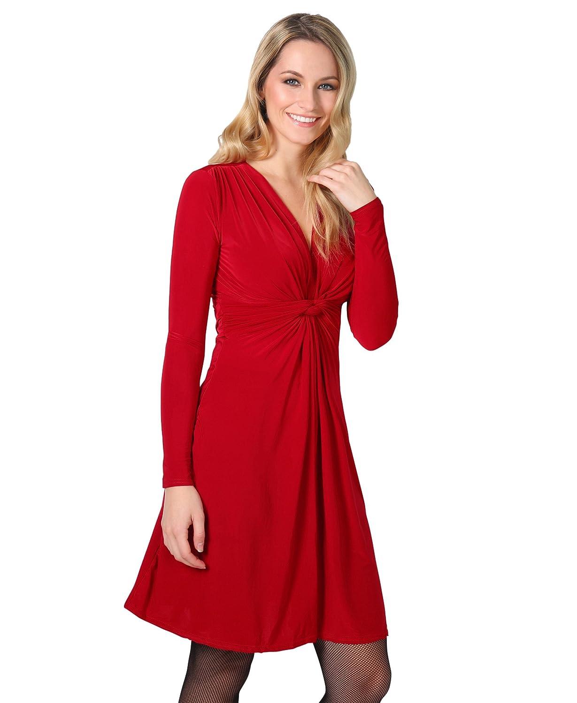 TALLA 42. KRISP Chaqueta Mujer Fiesta Punto Encaje Blazer Elegante Cardigan Rojo Oscuro (9878) 42
