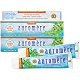 Auromere Ayurvedic Herbal Toothpaste, Classic Licorice Flavour - Vegan, Natural, Non GMO, Fluoride Free, Gluten Free, with Ne