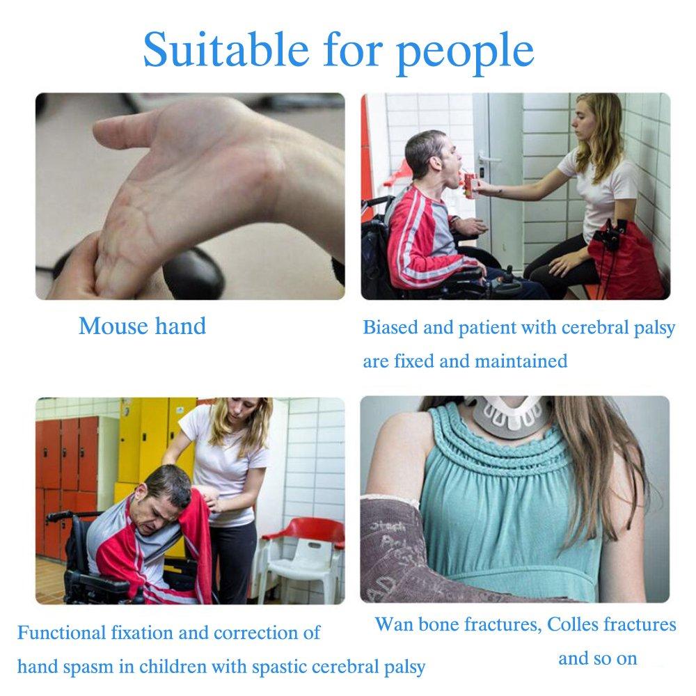 Soft Functional Resting Hand Splint for Stroke, Fracture, Tendinitis, Dislocation (Medium, Left) by Furlove (Image #3)