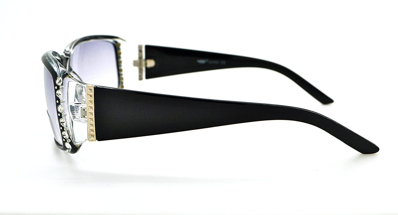 VOX trendy classico di alta qualità da donna Hot Fashion lettura bifocali occhiali da sole W/free custodia in microfibra Black Frame - Smoke Lens z4GeWlKO9