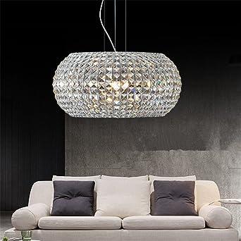 Cuican Modern Lustres En Cristal Simple Circulaire Lampe De Plafond