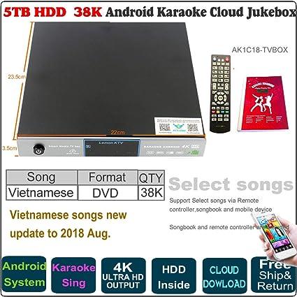 Amazon com: 5TB HDD,38K Vietnamese Songs Android Karaoke