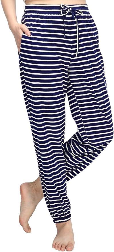 Elasticizzati con Tasche Pantaloncini da Pigiama da Donna WEWINK CUKOO