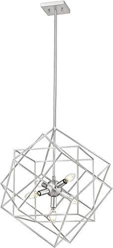 Ove Decors Kiku 5-LED Brushed Nickel Chandelier Light