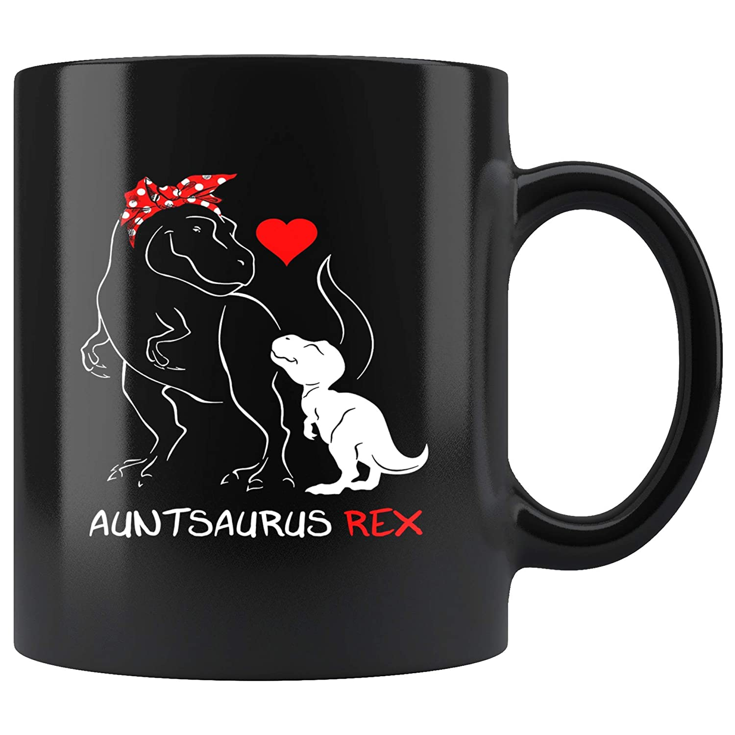 Auntsaurus Rex Birthday Gifts Funny Aunt Auntie Cute Coffee Mug 11oz Tea Cup Funny Birthday Christmas Halloween Gift for Men Women Vintage Retro