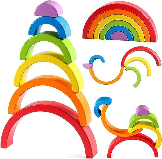 Kisangel 4 Pz Creativo Waldorf Mano Aquilone Set Arcobaleno Nastro Giocattoli Sensoriali Anelli Campana a Mano Giocattoli Giocattoli Montessori per Bambini Piccoli Che Imparano Giocattoli
