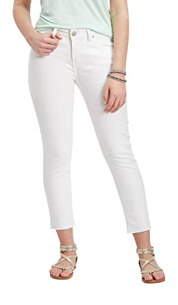 78246279 Silver Jeans Co. Women's Avery White High Rise Cropped Skinny Jean 31W White