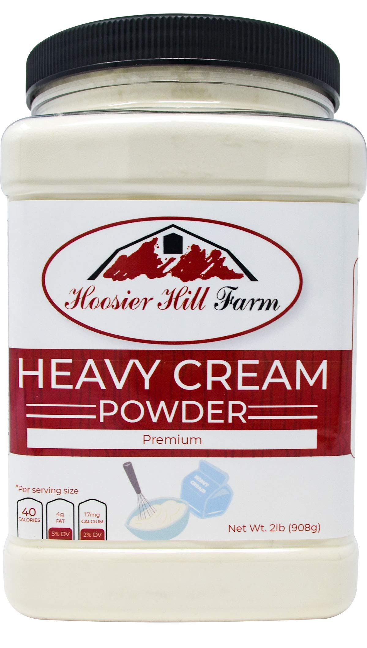 Heavy Cream Powder Jar, Hoosier Hill Farm (2 lbs) Gluten Free and Hormone Free.