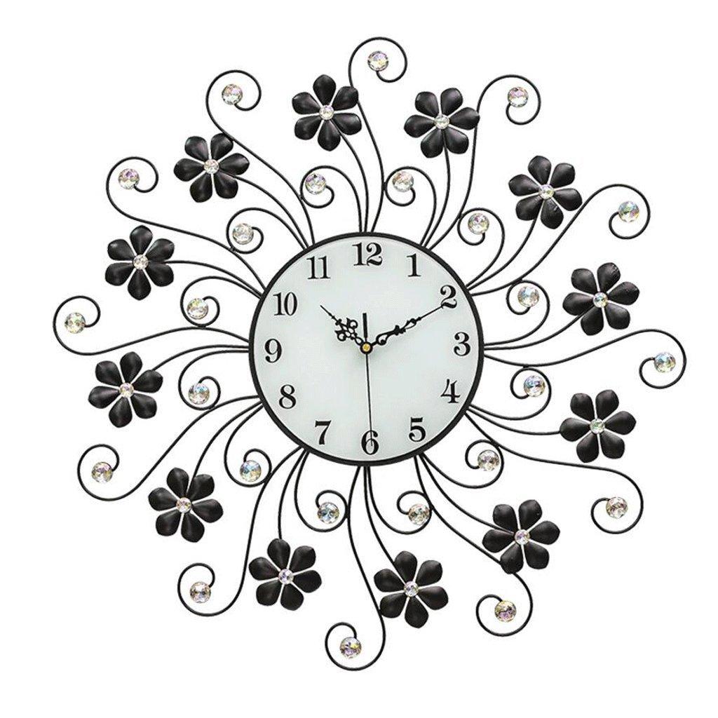 TXXM® モダンなリビングルームの壁時計クリエイティブ単純な吊りテーブルベッドルームミュート時計ヨーロッパのクォーツ時計装飾的なテーブル (色 : B) B07F7CJT4PB