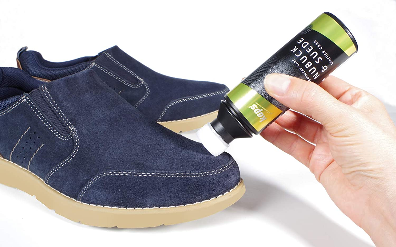 Kaps Acondicionador de zapatos para nobuck y ante, con aplicador de esponja, Cuidado nobuck y ante, 7 colores