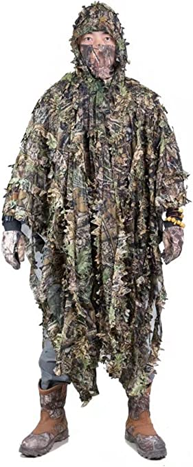 Cloak Poncho Dersert Camouflage Clothing Hunting Disguise Tactical Ghillie Suit