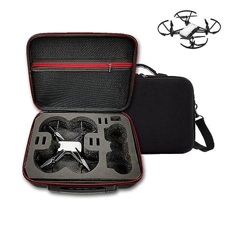 Honbobo - Funda rígida para dji Tello Drone y Accesorios, Color Negro