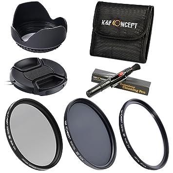 55MM UV CPL ND4 - K&F Concept Kit Filtro Objetivo 55MM Filtro Ultravioleta Filtro Polarizador Filtro de Densidad Neutra para Sony Sigma Tamron DSLR ...