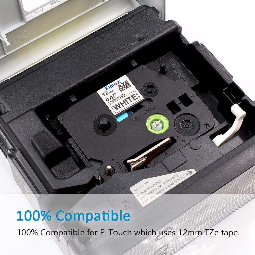 6er Packung Etikettenband // Schriftband /äquivalent zu Brother Brother P-touch TZe131-731 schwarz auf transparent// wei/ß// rot// blau// gelb// gr/ün f/ür P-Touch Etikettendrucker D400 H101TB 105WB H100LB