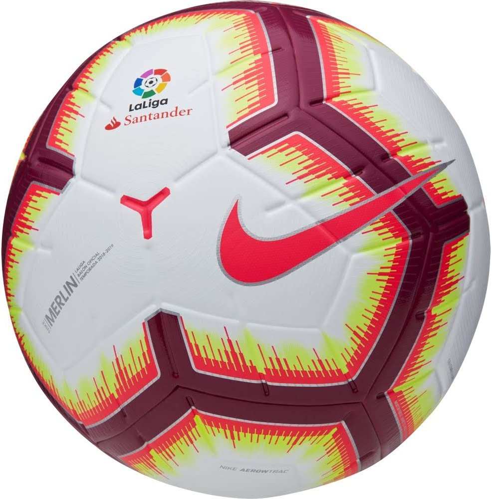 Nike - Balon LALIGA Merlin Omb Color: Blanco Talla: 5: Amazon.es: Deportes y aire libre