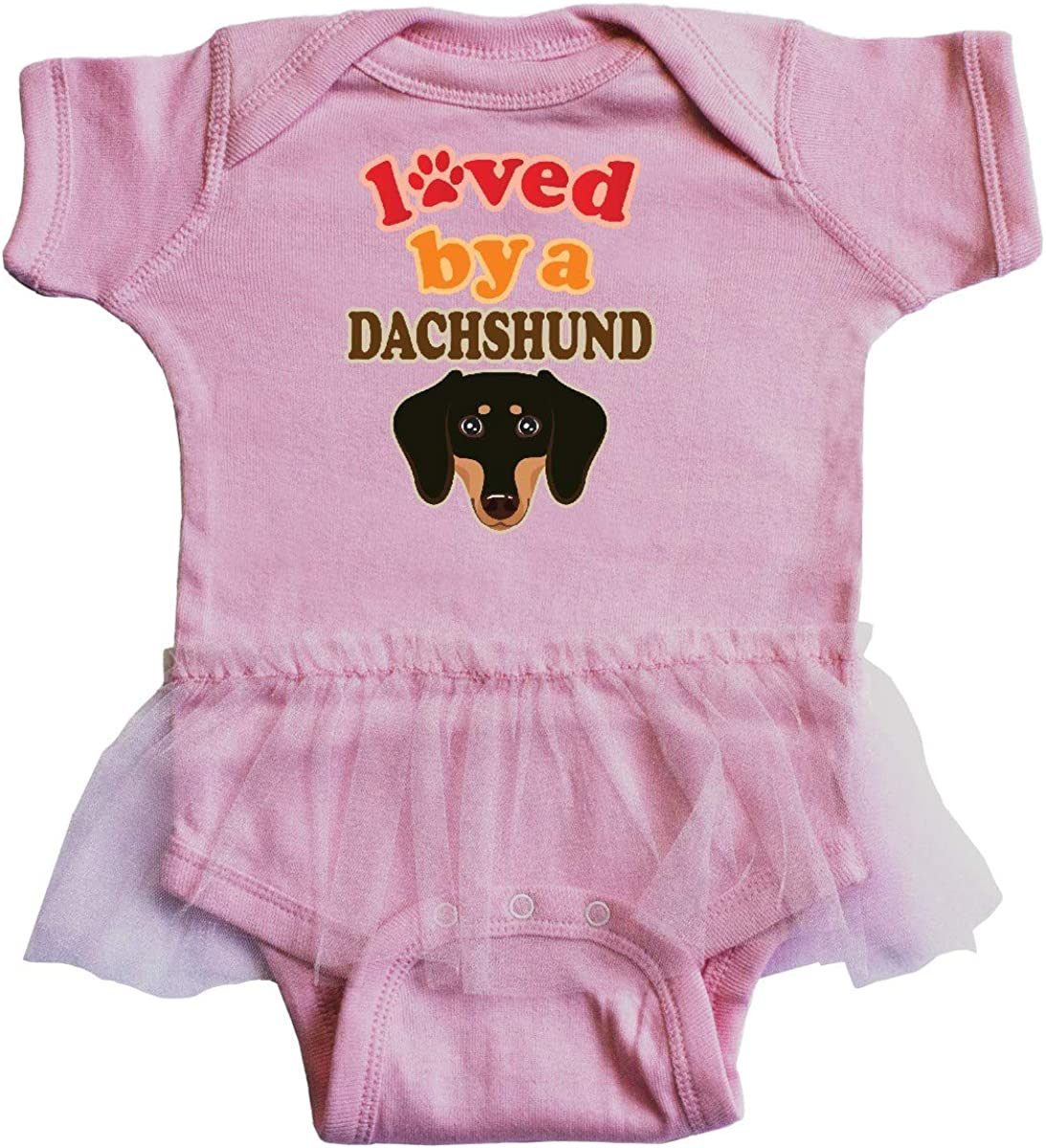 inktastic Dachshund Dog Lover Gift Infant Tutu Bodysuit