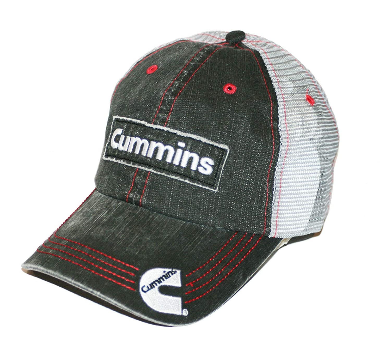 BD Cummins Diesel Engines Cummins Embroidered Patch Denim Mesh Cap//Hat