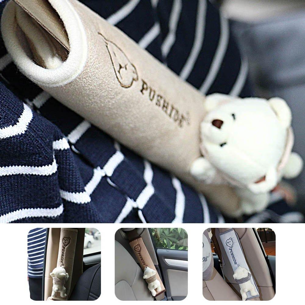 Frenshion Cintura di Sicurezza Coperture Pad Protezioni Cintura 1 Coppia per Auto Seat Belt Covers Bleu