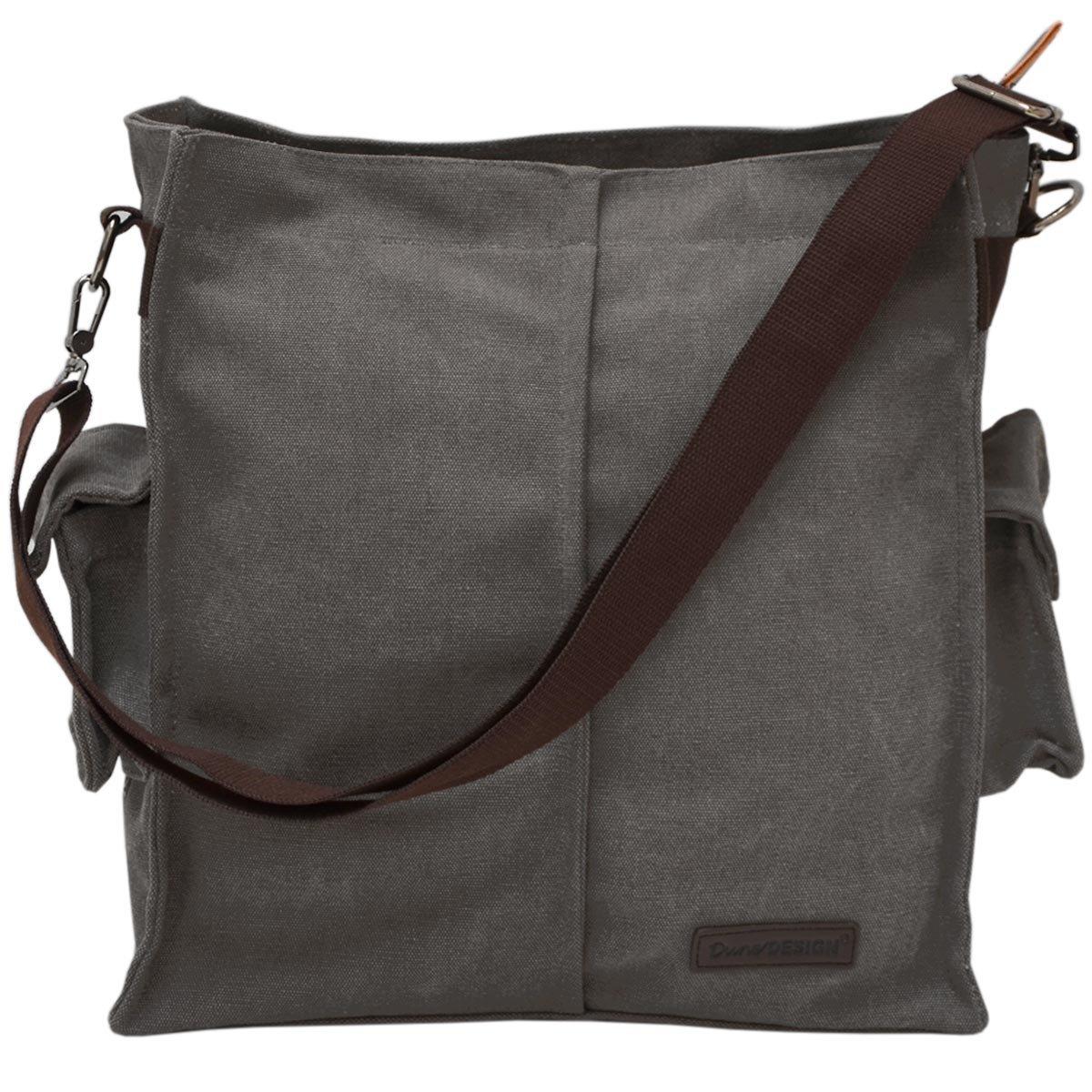 DuneDesign XXL Umh/ängetasche mit Geheimfach Unisex Handtasche 15x35x40cm Wertsachen Safe Geldversteck Tresor Tasche