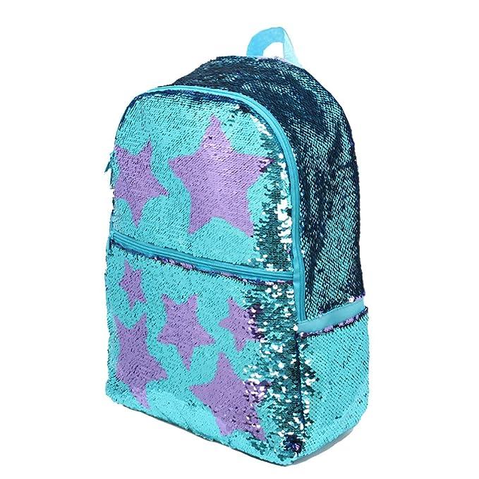 8fe7274a0cd5 Sequin School Backpack for Girls Kids Cute Elementary Book Bag Bookbag Teen  Glitter Sparkly Back Pack