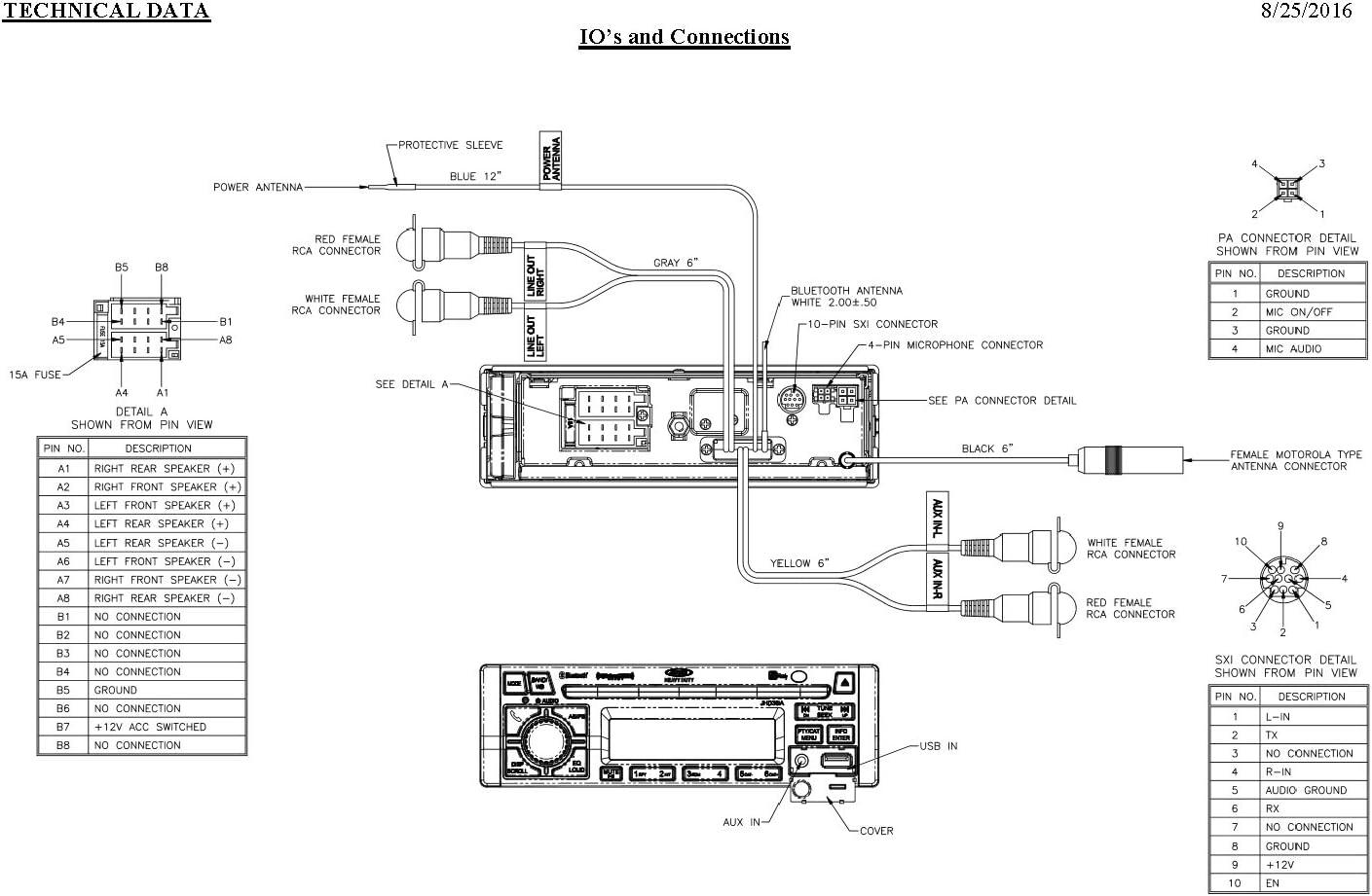 12V DC Jensen JHD36AB AM//FM//WB//CD//RBDS//USB//AUX-IN//App Ready//SiriusXM Ready//iPod /& iPhone Ready//Bluetooth Stereo Radio