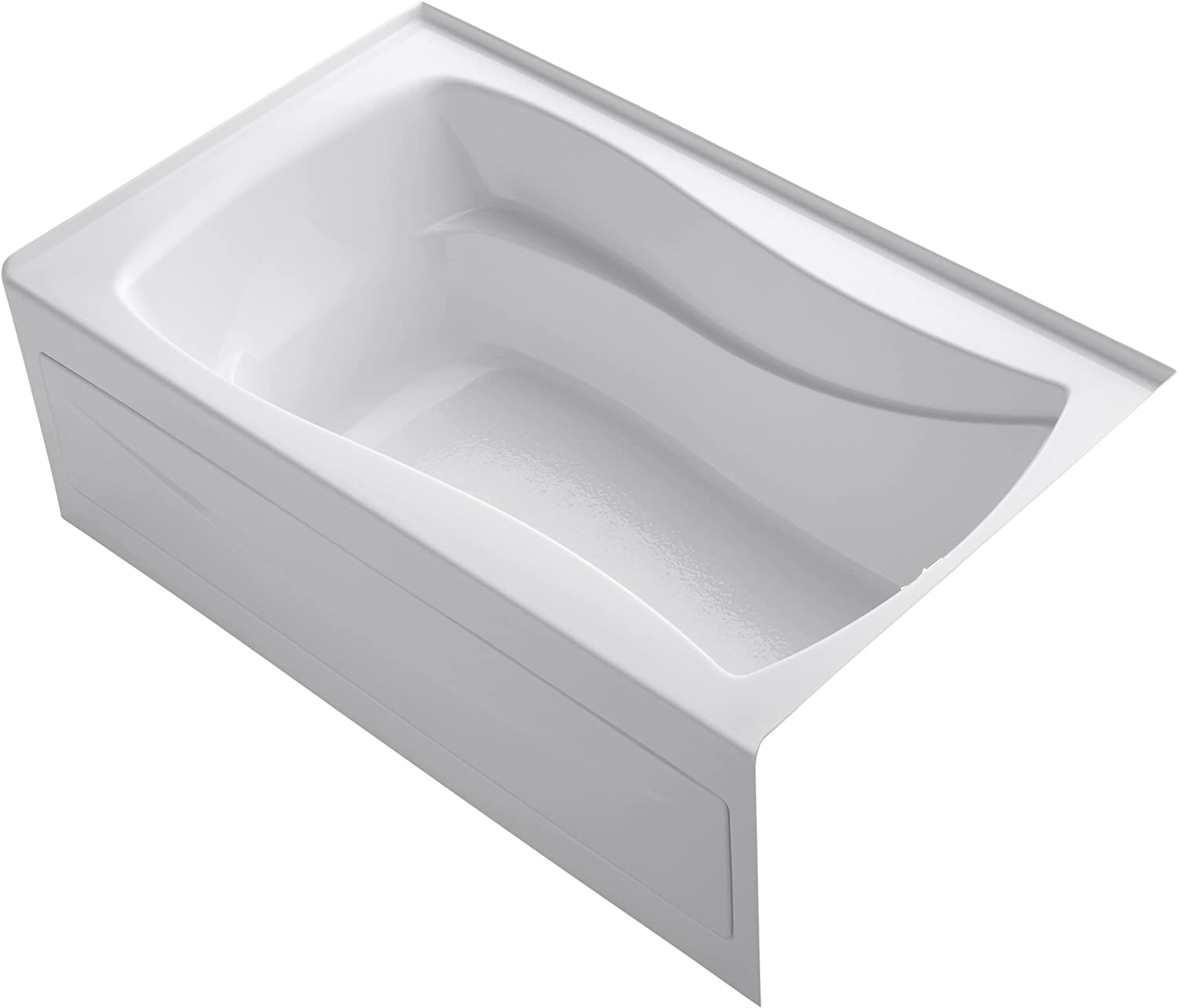 Almond Kohler K-1242-RA-47 Mariposa 5Ft Bath with Integral Apron Tile Flange and Right-Hand Drain