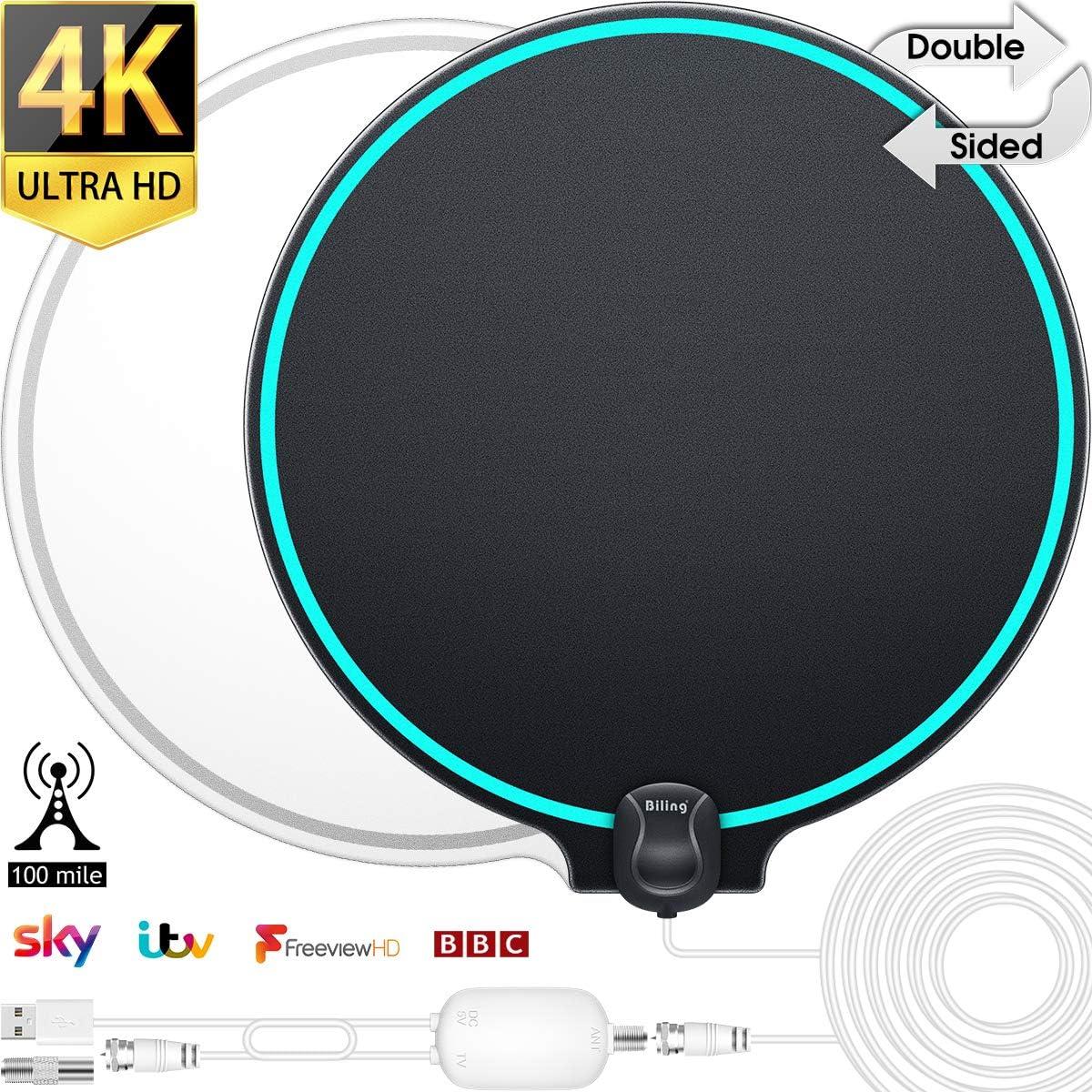 Biling Antena TV Interior- Antena TV portátil HD TV Digital con ...
