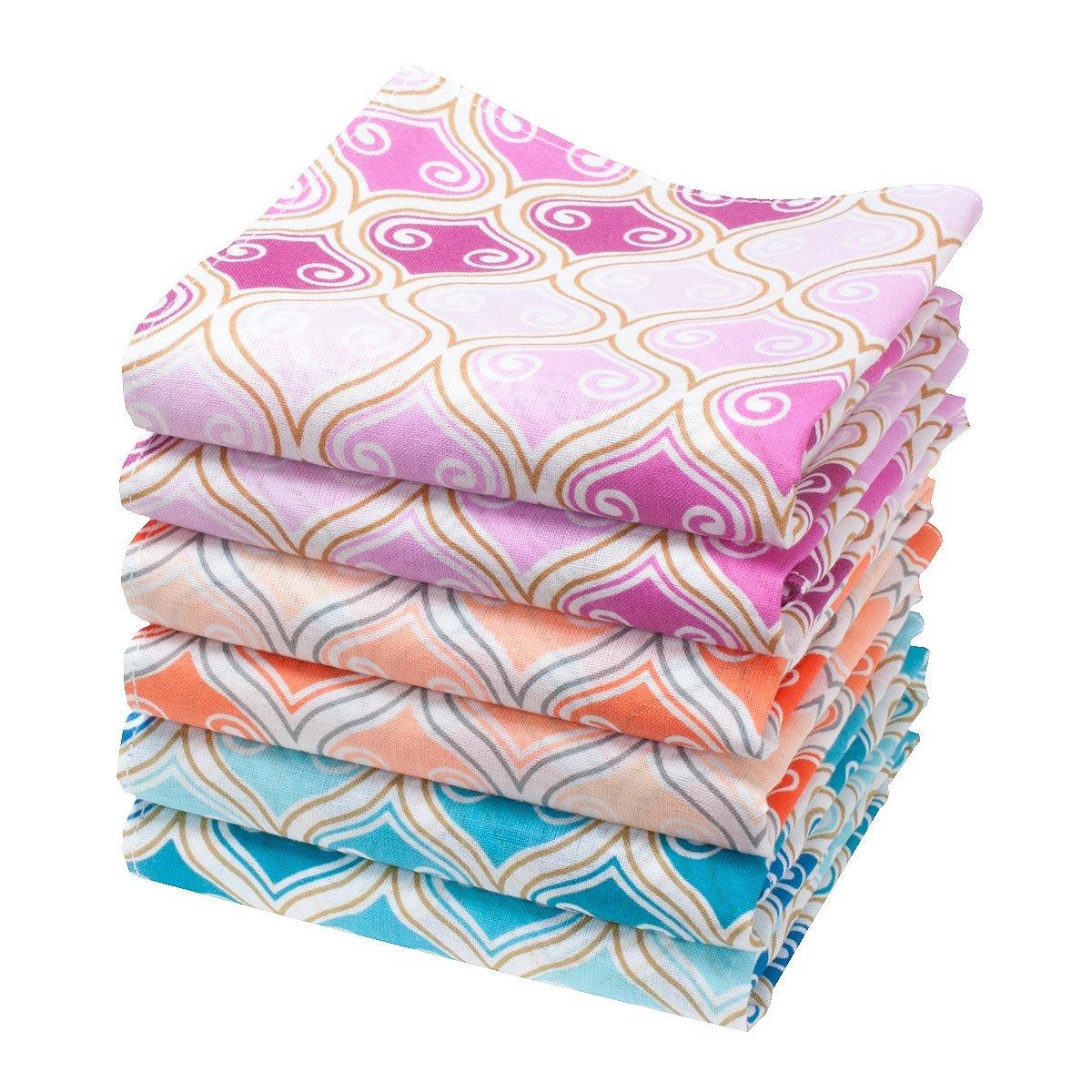 """Alphonsine"" handkerchiefs - 14"" square - 6 units Merrysquare"