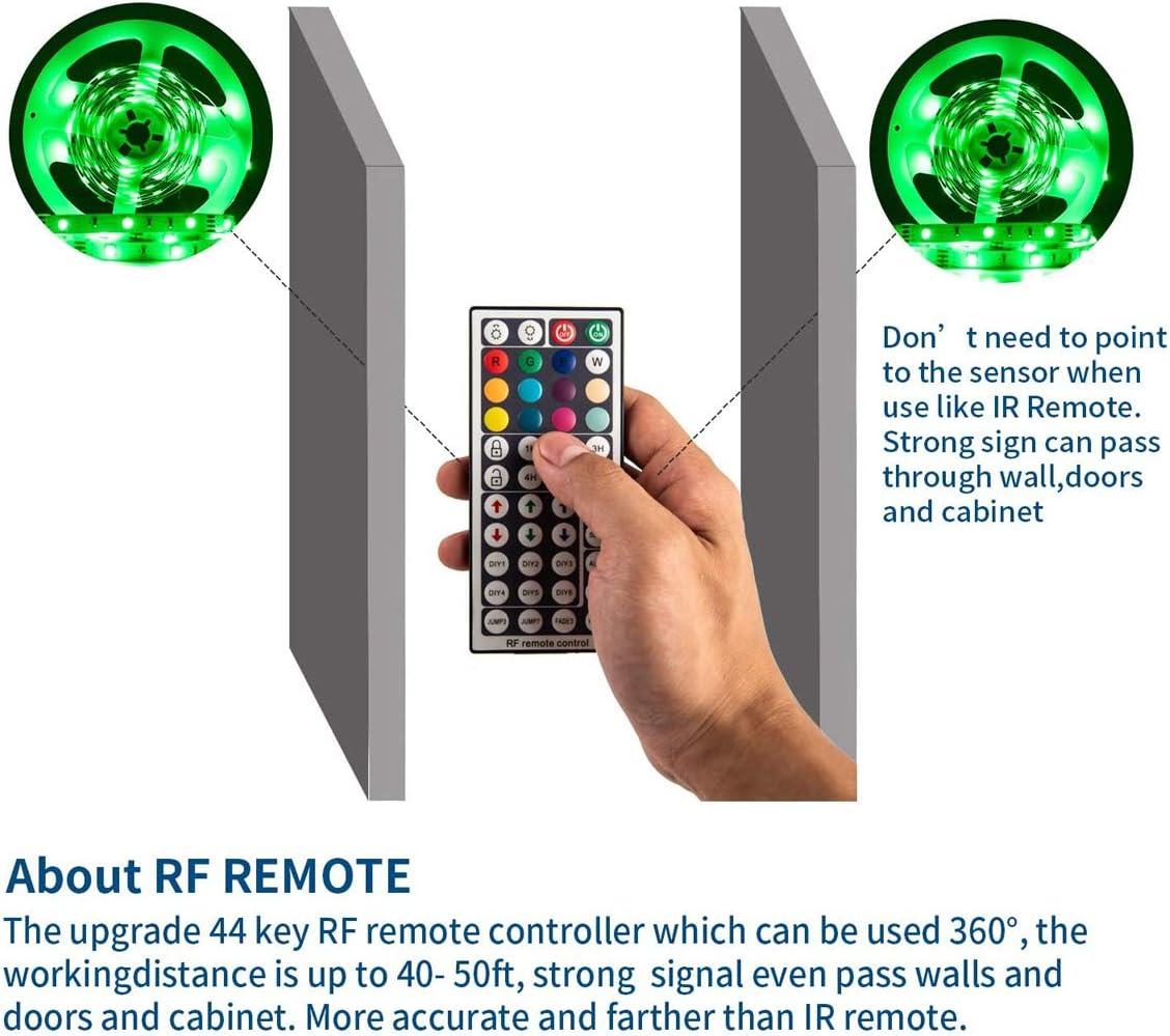 GOOLOOK 44 Keys Wireless IR RF RGB LED Lights Strip Remote Controller Box Replacement