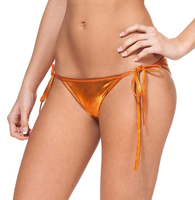 6aa83c0d977fa Gary Majdell Sport Women's New Liquid String Bikini Swimsuit Bottom Liquid  Copper Small