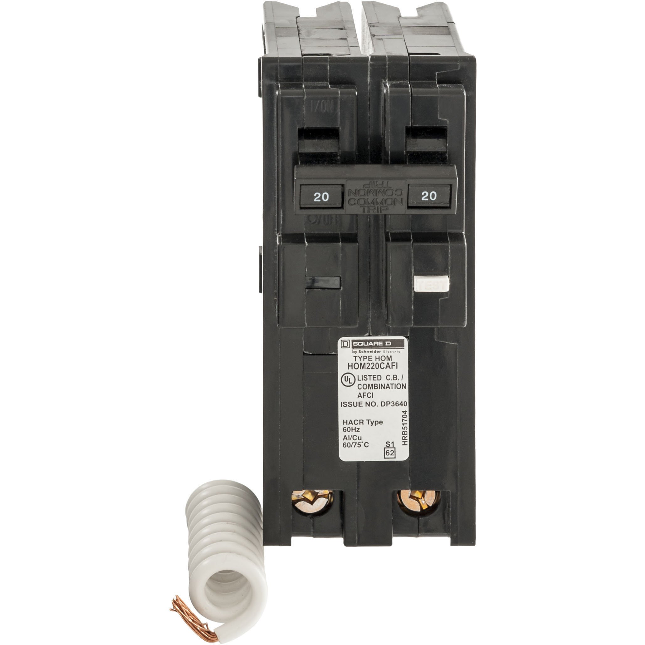 Square D by Schneider Electric HOM220CAFIC Homeline 20 Amp Two-Pole CAFCI Circuit Breaker, by Square D by Schneider Electric