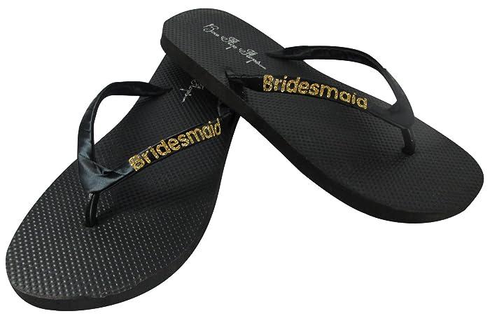 Amazon.com: Bridesmaid Flip Flops Wedding Bling Gift Shower Bridal ...