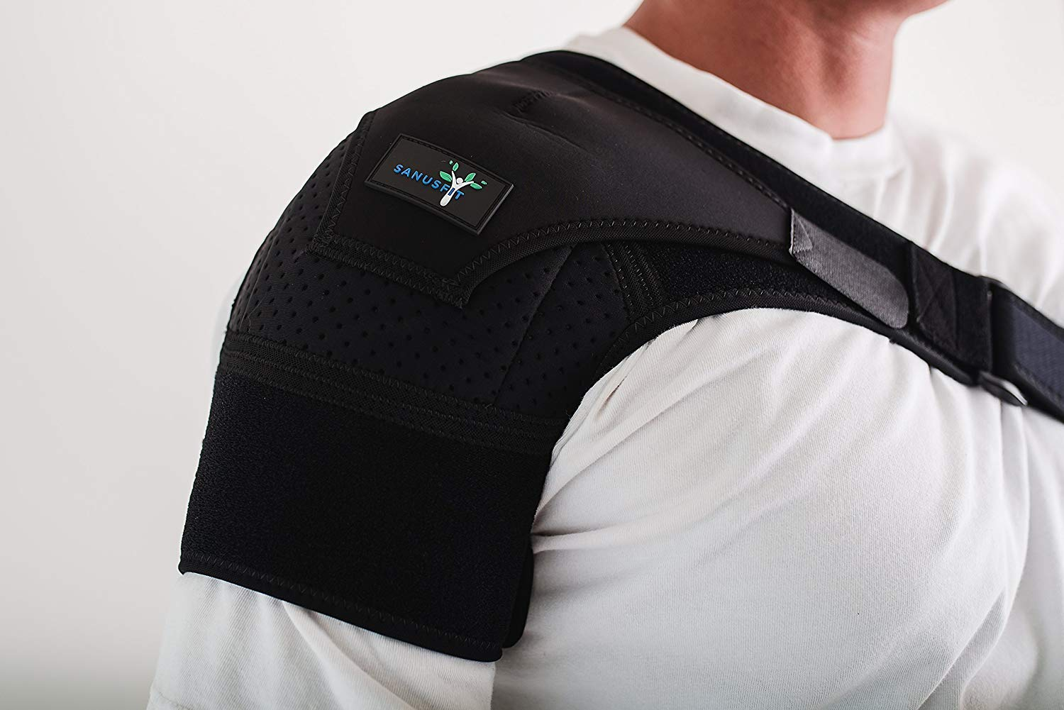 Shoulder Support Brace with Hot/Cold Therapy Included, Fully Adjustable for  Left or Right Shoulder,