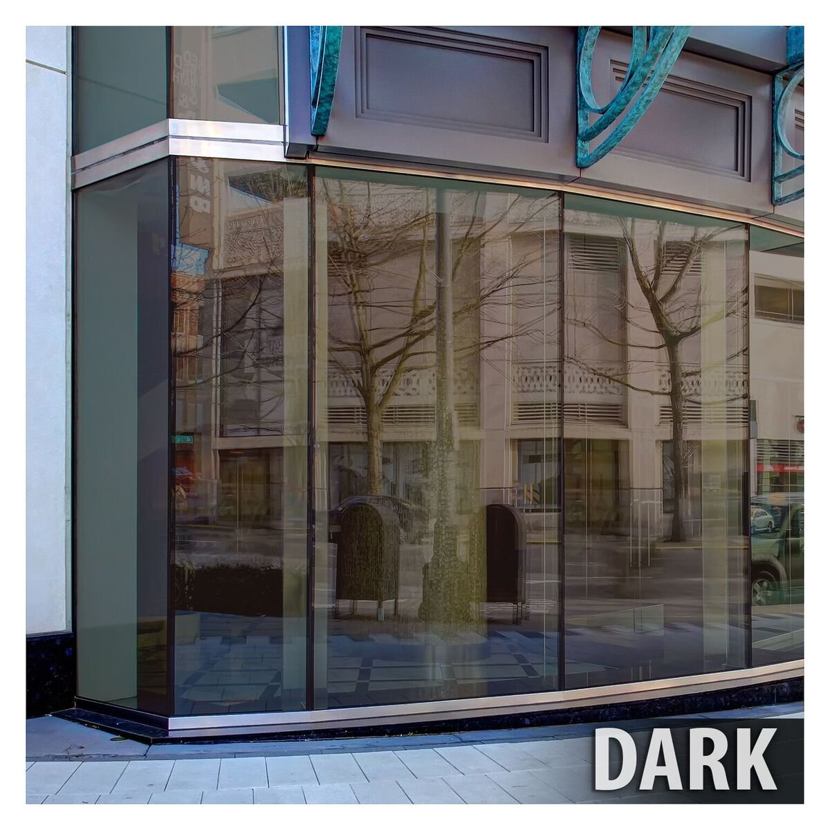 BDF BRZ20 Window Film Bronze Reflective Sun Control and Privacy (Dark) - 48in X 24ft by Buydecorativefilm