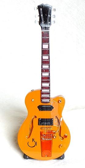 Guitarra en miniatura decorativa Gibson Es-335 VDS, fabricación a mano de madera #