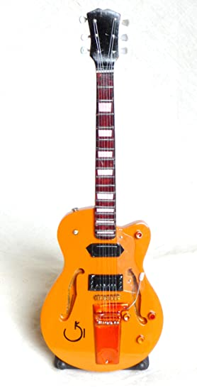 Guitarra en miniatura decorativa Guitarra Guitar Harley Benton 26 cm mano de madera # 124