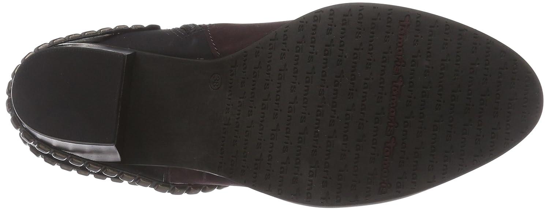 Tamaris 25355, Bottes Classics Courtes, Doublure Froide Femmes - Multicolore - Mehrfarbig (Bordeaux Comb 550), Taille 38 EU