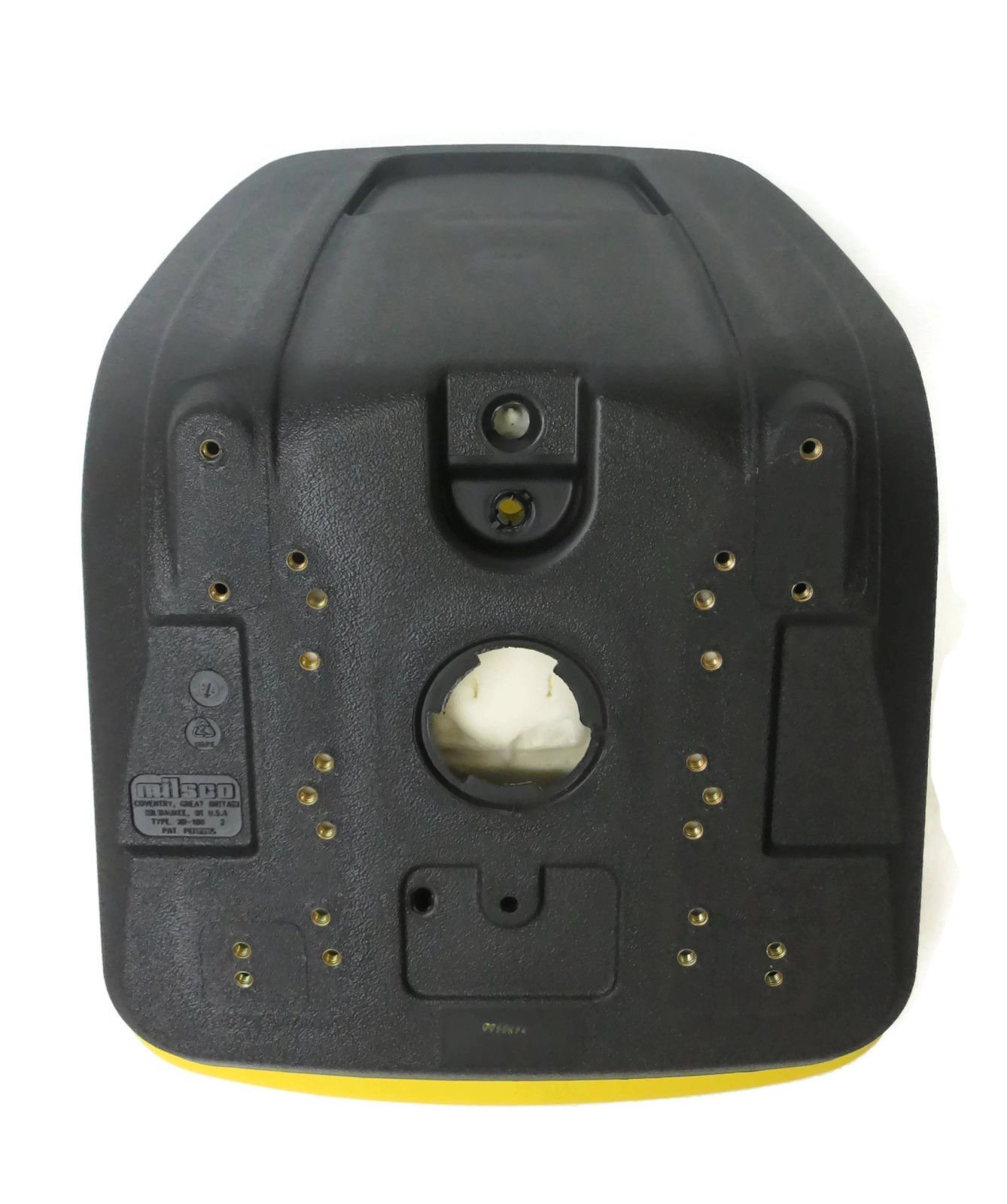 The ROP Shop Yellow HIGH Back SEAT w/Pivot Rod Bracket for John Deere 445 455 SST16 SST18 by The ROP Shop (Image #4)