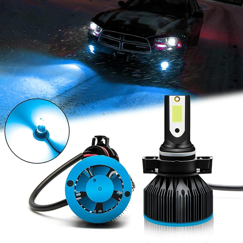 Xotic Tech 2pcs H8 H9 H11 Ice Blue 8000K LED Headlight Bulb Conversion Kit High Low Beam Fog Light 6000LM Super Bright