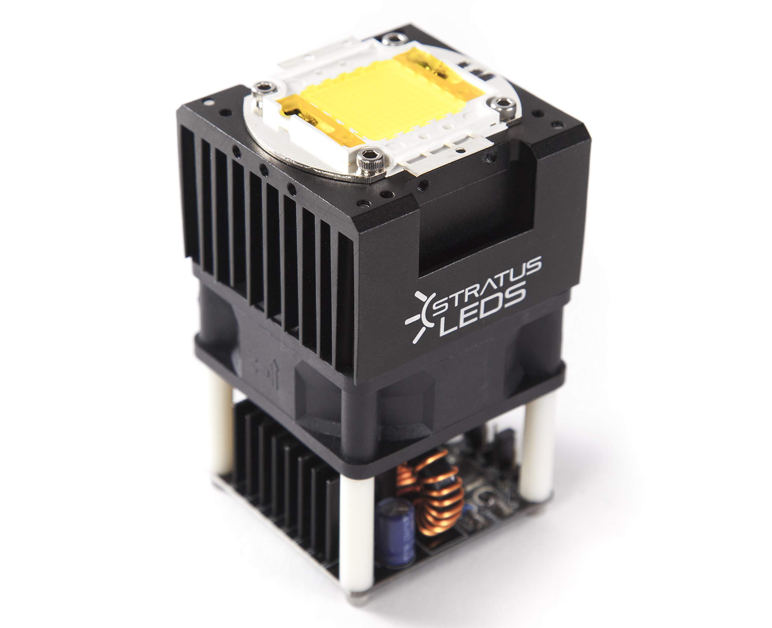High Power 100W LED Spot Light Module DC 12V / 24V - Stratus LEDs (5600K - 12V - 80CRI - 13000 Lumens) by Stratus Productions (Image #1)