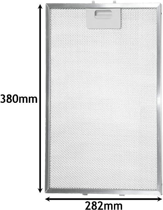 Spares2go - Filtro de grasa para extractor de campana extractora Whirlpool (380 x 282 mm): Amazon.es: Hogar